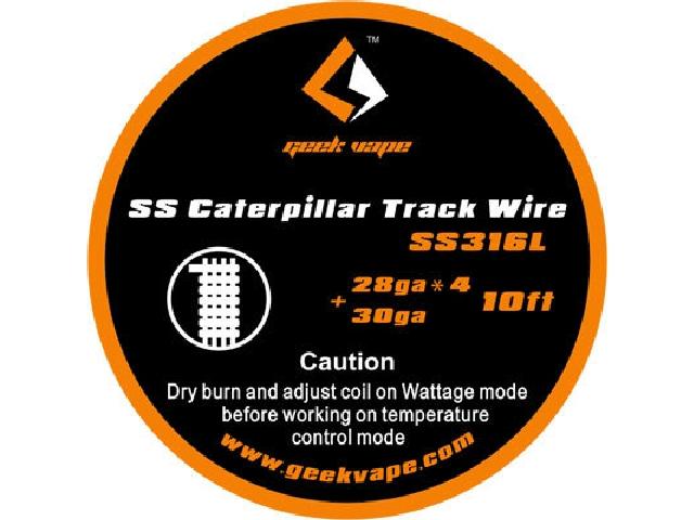 GEEK VAPE SS316 CATERPILLAR TRACK WIRE 28GA 4+30GA
