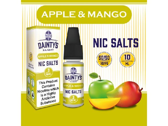 Dainty's Nic Salts 10ml – Apple Mango, 6mg