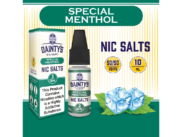 Dainty's Nic Salts 10ml – Special Menthol, 18mg