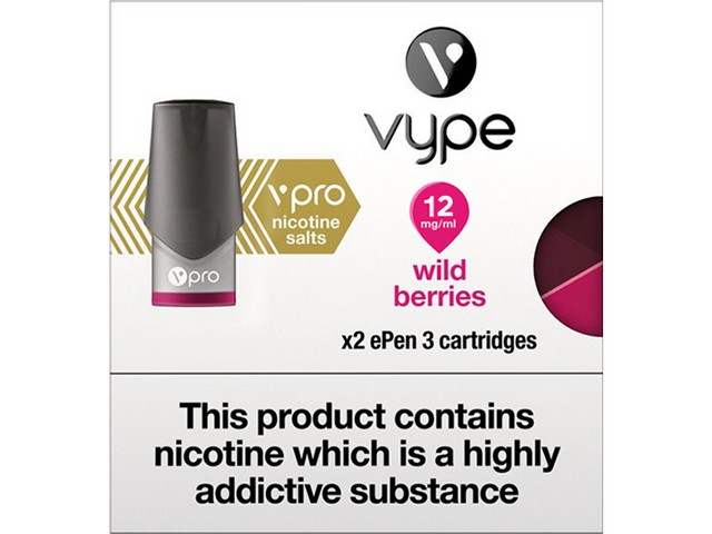 Vype EPen 3 VPro Cartridges – Wild Berries, 12mg