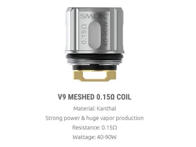 Smok TFV9 Coil – V9 Meshed 0.15Ω