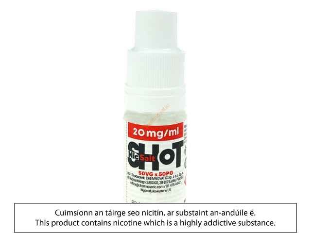 20mg Nic Salt Shot (50VG/50PG)